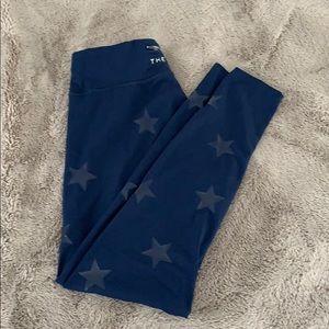 Navy the warmup leggings w stars